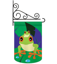 Tropical Frogs - Applique Decorative Metal Fansy Wall Bracket Garden Fla... - $29.97