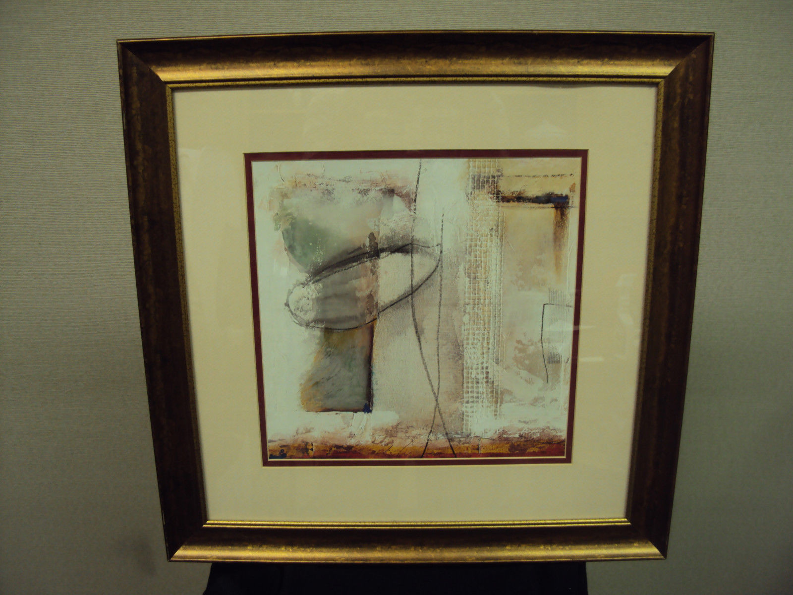 Star Creations Framed Watercolor Print ~ Abstract Goblets, Free Shipping!
