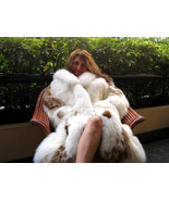 Babyalpaca pelt long coat, fur outerwear, Large - $1,189.00