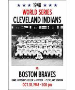 1948 CLEVELAND INDIANS VS BOSTON BRAVES 8X10 TEAM PHOTO BASEBALL PICTURE... - $4.94