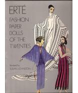 Erte Fashion Paper Dolls of the Twenties by Susan Johnston 6 Dolls & War... - $12.00