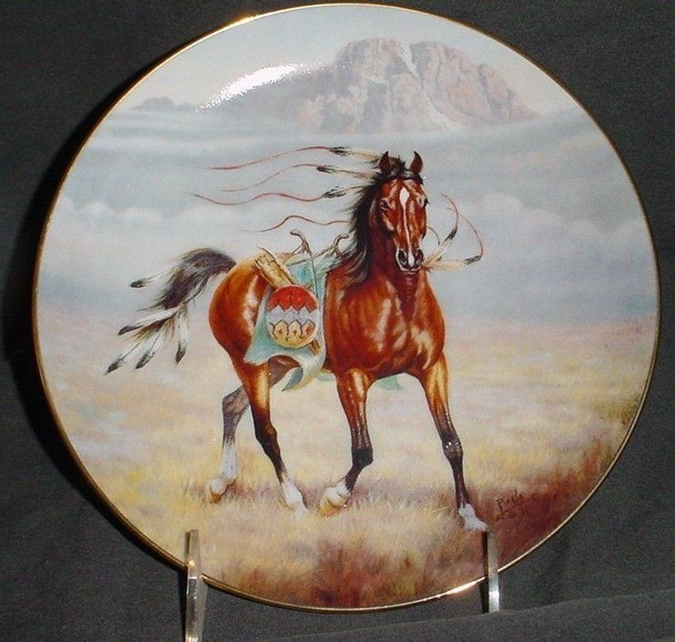 """Gregory Perillo War Ponies Of The Plains """" PRAIRIE PRANCER """" Plate"""