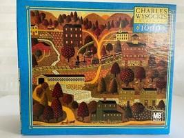 Charles Wysocki 1000 piece Jigsaw Puzzle Game Silke Train Ride Trees Mou... - $197.01