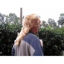 Fur hat made of alpaca fur, ethnic fur cap - $120.00