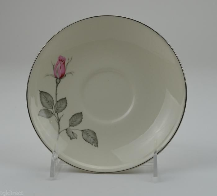 "Flat Cup Saucer Zylstra Rose Pattern 6"" Round China Dinnerware Tableware"