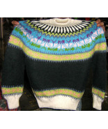 colorful sweater, alpacawool for kids from 5-12 Years - $68.00