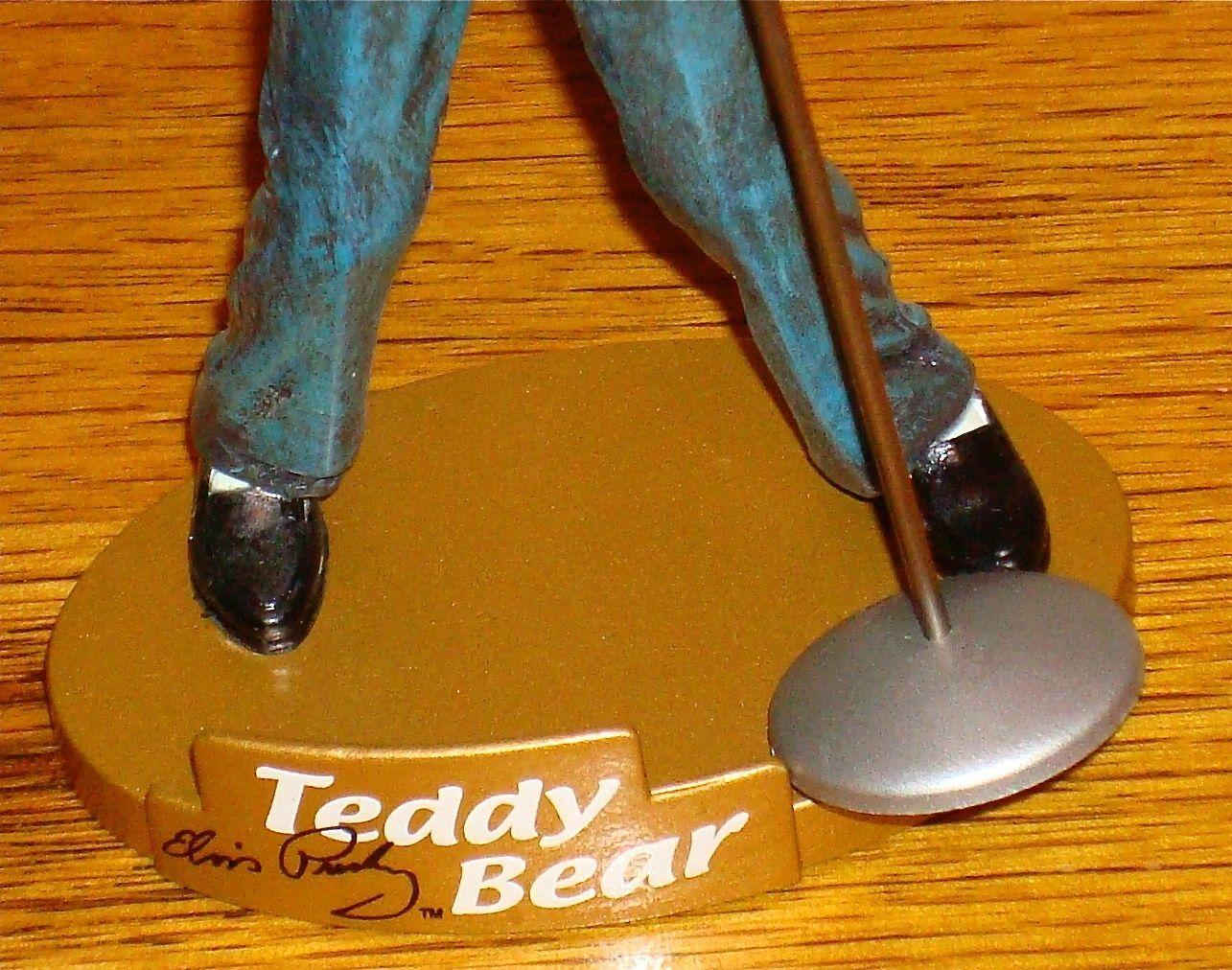 ELVIS PRESLEY TEDDY BEAR FIGURINE 2002 E.P.E.