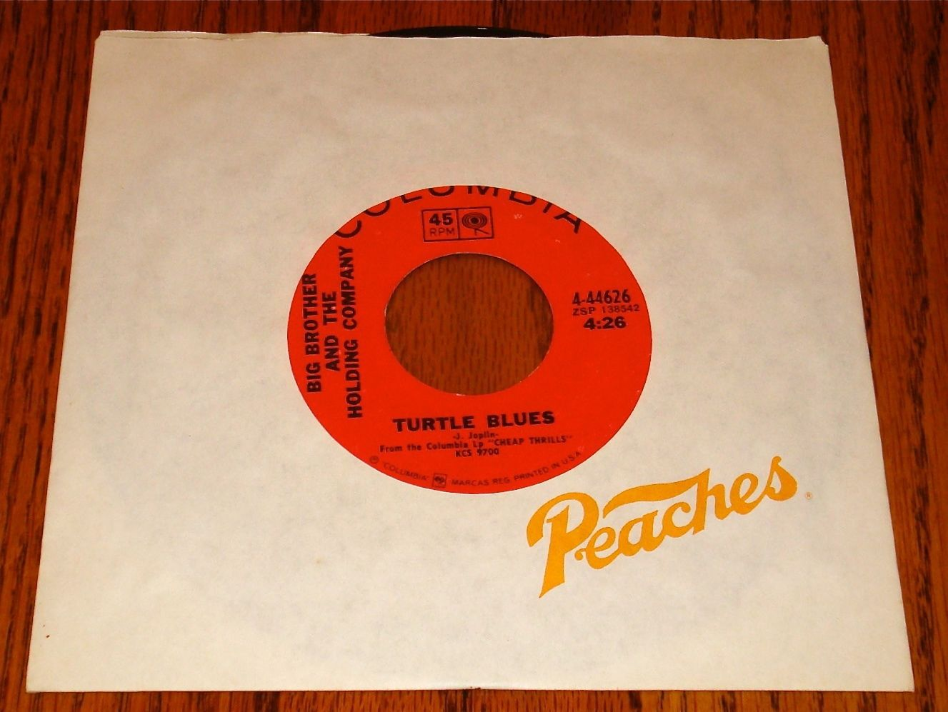 BIG BROTHER & THE HOLDING COMPANY/JANIS JOPLIN PIECES OF MY HEART ORIGINAL 45