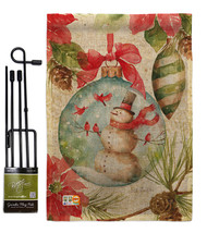 Woodland Holiday Burlap - Impressions Decorative Metal Garden Pole Flag ... - $33.97