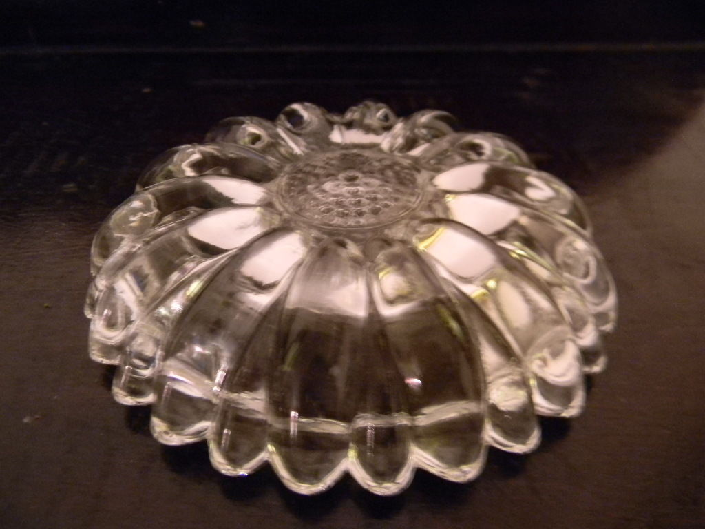 Pair of Heavy Crystal Glass Candlestick Holders