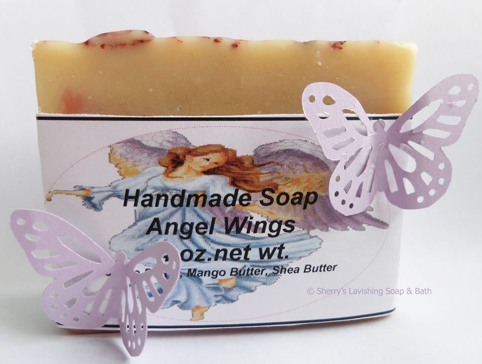 Handmade Soap Angel Wings