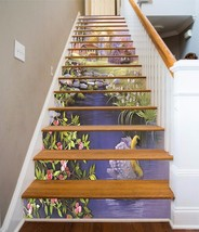 3D Houses Lake 837 Stair Risers Decoration Photo Mural Vinyl Decal Wallp... - $88.40+