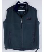 VTG 90s Polo Sport Ralph Lauren Fleece Vest Men's Size Medium Blue Gray ... - $29.39