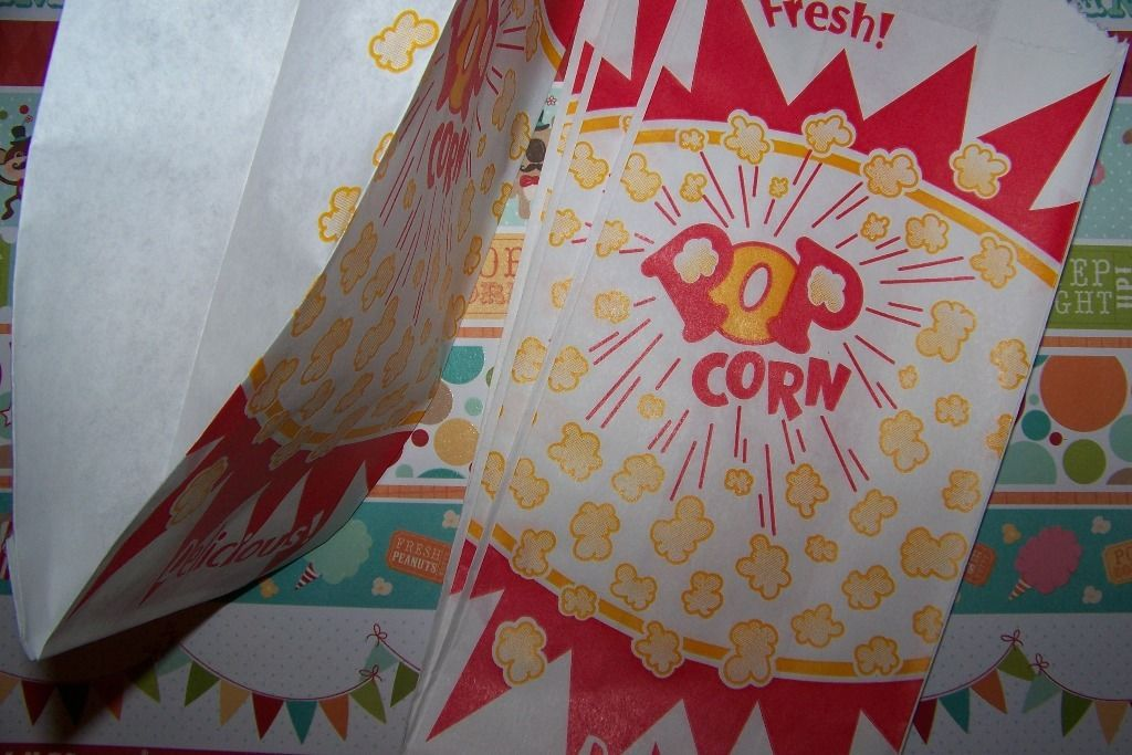 Popcorn Bags Fabulous Vintage Graphics 12 Bags/Circus Birthday More Available!