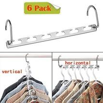 CBTONE 6 Pack Closet Space Saving Hangers, Multi-Purpose Metal Magic Hangers Cas