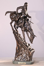 """13.5""""H """"Mountain Man"""" Solid Bronze Collectible Sculpture Statue by F. Re... - $325.95"""