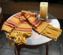 Alpacawool scarf, shawl in a folclorical peruvian design - $45.00