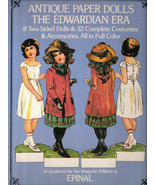 Antique Paper Dolls The Edwardian Era by Epinal 8 Two Sided Dolls & 32 C... - $12.00