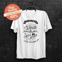 I Love the world Sarcasm Funny Black White Red unisex TeeT Shirt - $25.02 CAD