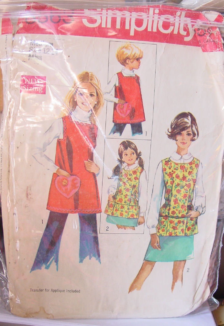 Vintage (cut) Misses Apron Pattern 8363 size 12-14 complete