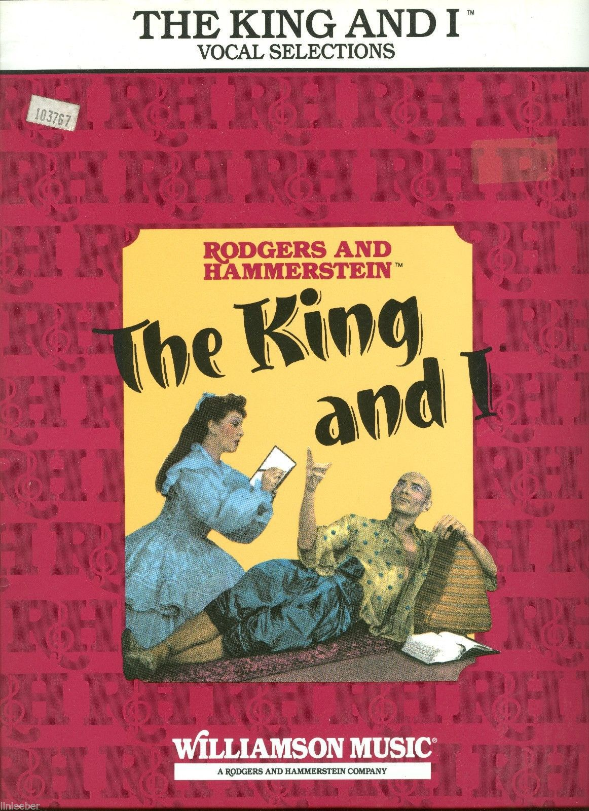 """""""The King and I"""",Rodgers and Hammerstein II,Vocal Selections;9 Show Tunes;1951ed"""