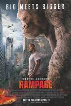 Rampage - original DS movie poster 27x40 D/S FINAL Kong - Rock Dwayne Jo... - $28.00