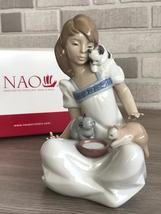 Nao by Lladro 02001569 BREAKFAST Porcelain Figurine Glased New  - $170.00