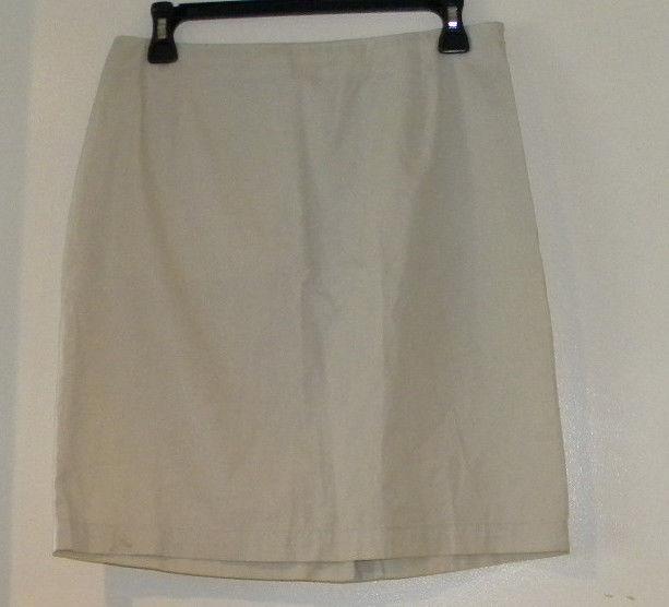 """Womens Ralph Lauren Beige A-line lined Skirt Sz 6 reg Waist 28"""" knee Length 19"""""""