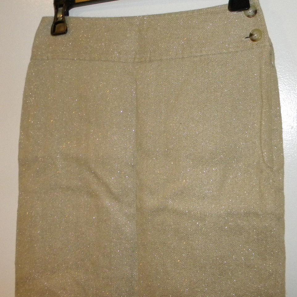 Lauren by RALPH LAUREN sz 2P linen straight Fall pencil skirt TAN BEIGE Nice!