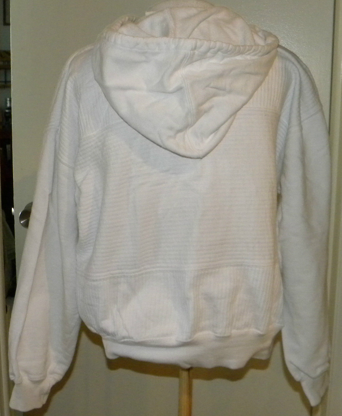 LIZ CLAIBORNE LIZSPORT active white zip front Hoodie JACKET coverall Cute sz M