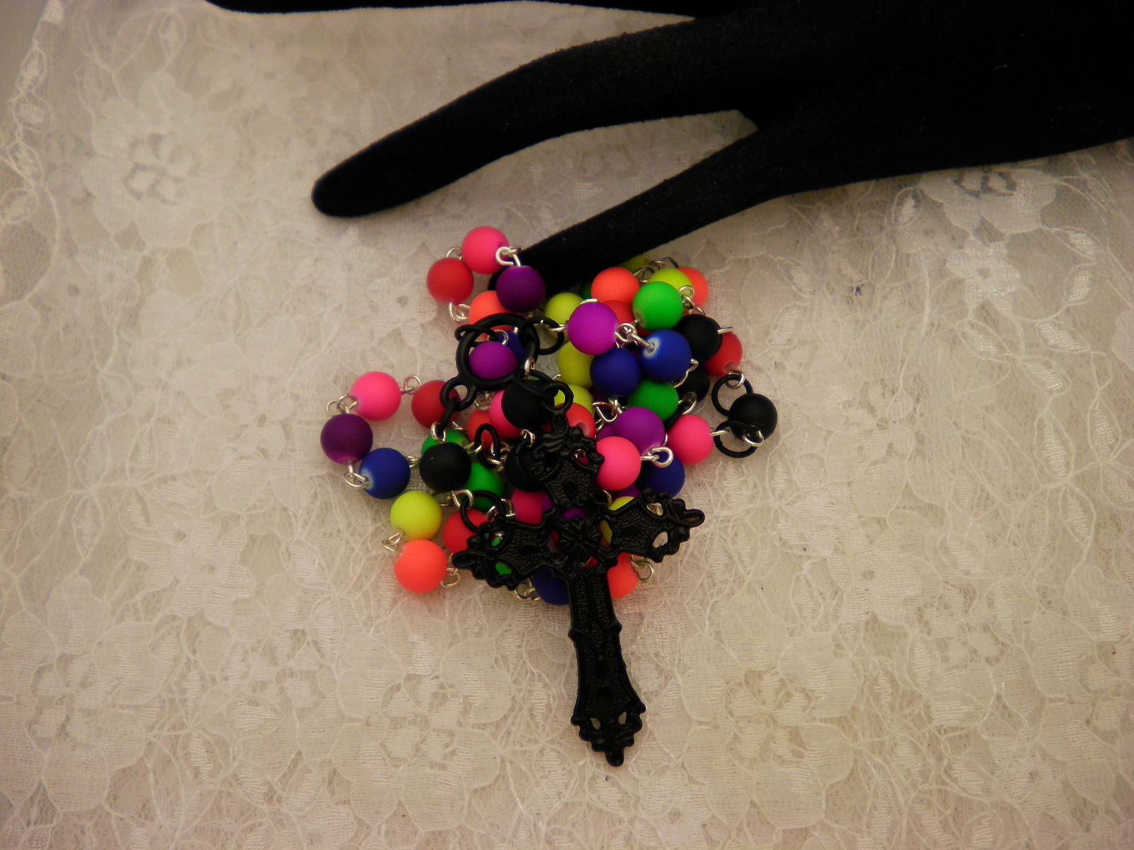 Catholic Neon Beaded Rosary Beads or Prayer Beads