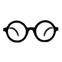 Steampunk-BLACK ROUND OWL GLASSES-Harry Potter School Boy Naughty Girl C... - $6.90