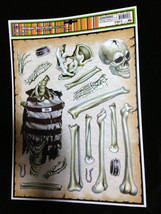 Haunted House Horror Props CREEPY DECAL CLINGS Halloween Decorations-SKU... - $4.92
