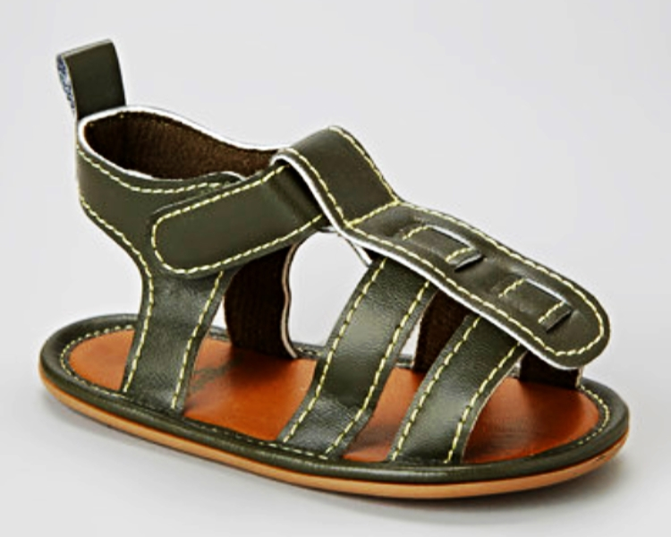 Trendy Baby Boys Sandals Olive Green Infant Fisherman Sandal MSRP $22.00 SAVE $5