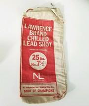 VINTAGE SHOTGUN  LAWRENCE BRAND 25 LBS NO. 7.5 CHILLED LEAD SHOT BAG EMPTY - $17.77