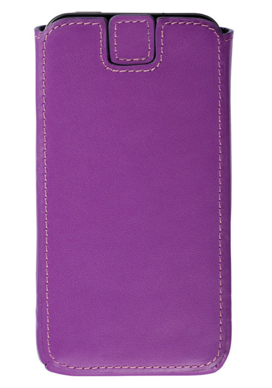 iPhone 4/4S Fuchsia Tone Leather Emboss Pouch Cell Phone Case by Trexta