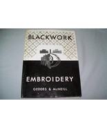 Blackwork Embroidery by Elisabeth Geddes and Mo... - $8.90