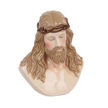 5.13 Inch Jesus Crown of Thorns Fine Porcelain Bust Figurine - $26.89