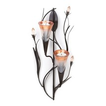 Dawn Lilies Candle Wall Sconce - $25.00