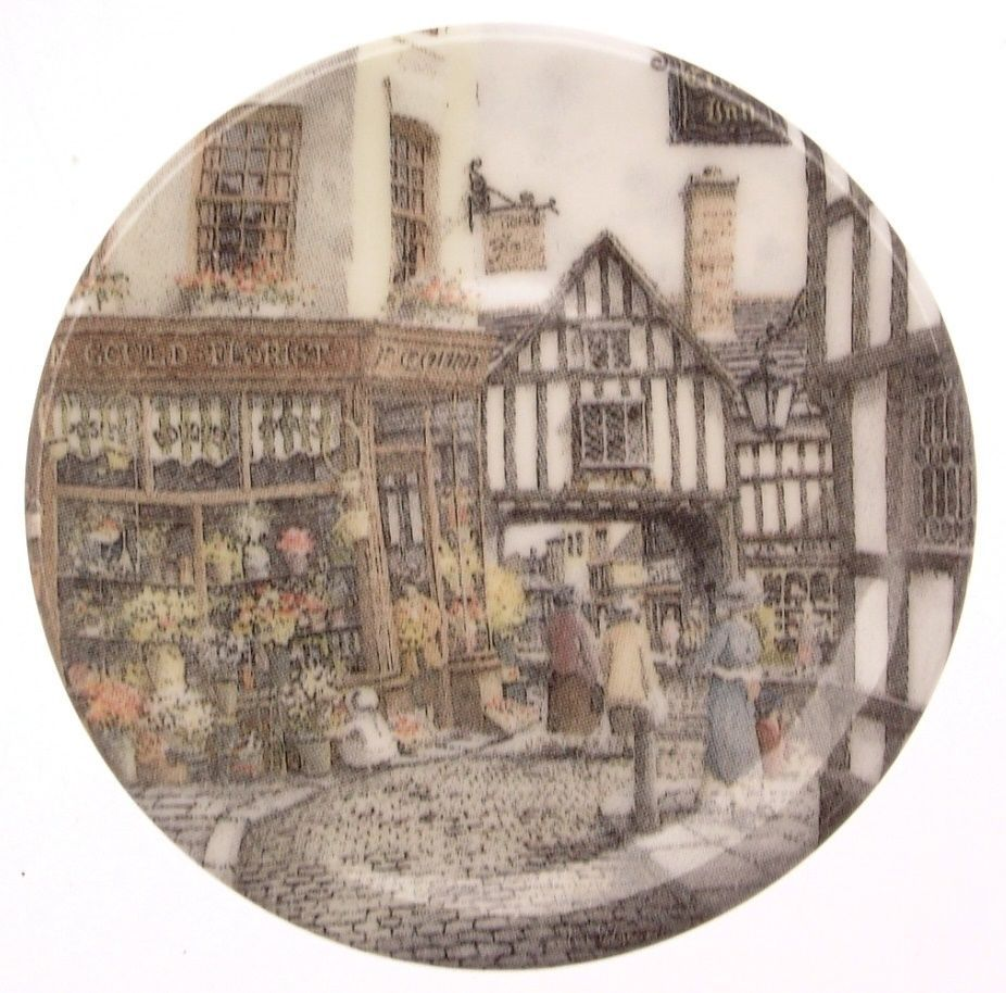 Bradford Exchange Centenary collection miniature plate The Flower Shop CP2259
