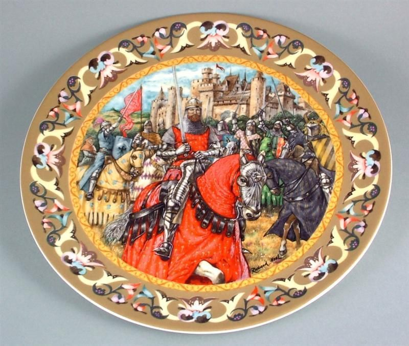 Bradex The Legend of King Arthur The Knights of the Round Table plate