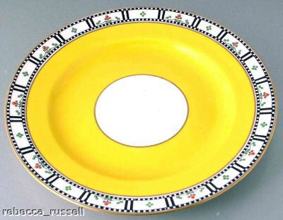 c1950 Royal Worcester Salad Plates C1145 Yellow