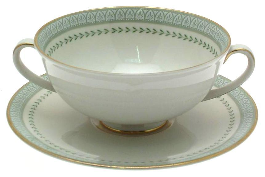 Royal Doulton Berkshire TC1021 Soup Coupe and Undersaucer - First Quality