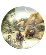 c1990 Royal Doulton Old Country Crafts The Thatcher Susan Neale plate CP... - $40.45