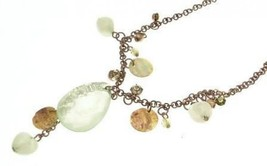 Pendant Necklace green bead design IAS200 - $22.43 CAD
