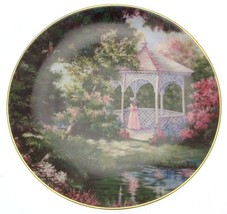 Franklin Mint Secluded Garden Violet Schwenig plate CP1907 - $36.42