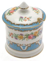 Crown Staffordshire Tunis Blue F15793 jam or marmalade pot - $109.67