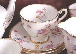 Royal Stafford Violets Pompadour Cup and Saucer - $40.84