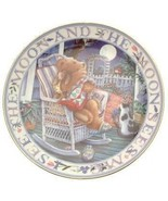 Royal Doulton Moonlight Blessing Linda Hill Griffith teddy plate CP2131 - $37.75