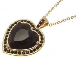 Fashion necklace with black heart design IAS222 - $19.19